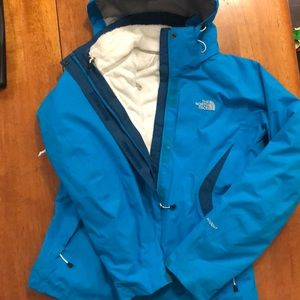 Never worn North Face 3-in-1 waterproof ski jacket